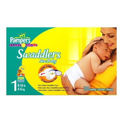 Pampers Swaddlers Diapers, Size 1, 100-Count