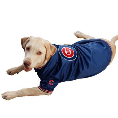 Sporty K9 Chicago Cubs Dugout Dog Jacket, Large