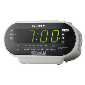 Sony Dual Alarm Clock Radio - White (ICFC318WHT)