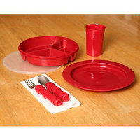 Ableware Redware Dinnerware Deluxe Set