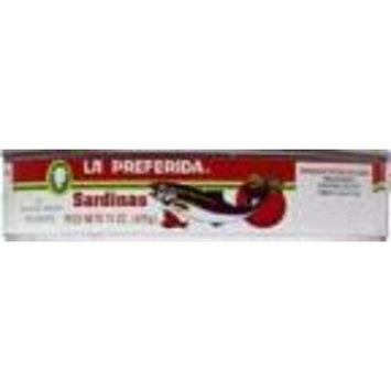 La Preferida Sardines, in Spicy Tomato Sauce, 15 oz (Pack of 24)
