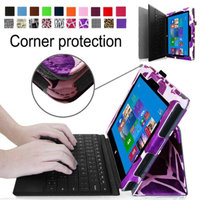 Fintie Premium Leather Folio Case for Microsoft Surface Pro / Surface Pro 2 Windows 8 Tablet 10.6 Inch, Giraffe Purple