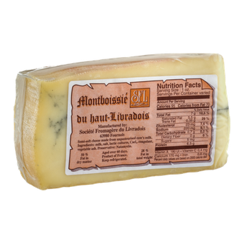 Montboissie Morbier Cheese French Cow's Milk Wedge