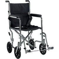 Drive Medical TR19 Go Cart Light Weight Transport Wheelchair with Swing-away Footrest  Steel