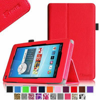 Fintie Premium Vegan Leather Stand Cover with Stylus Loop for Hisense Sero 7 LT(Lite) Tablet, Red