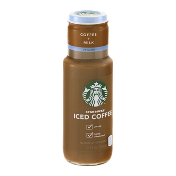 Starbucks Iced Coffee Coffee+Milk Low Calorie