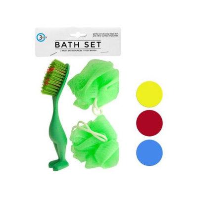 Sunrise Bath Sponges Foot Brush Set