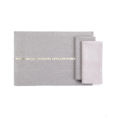 Calvin Klein Table Linens, Silver Disc Napkin