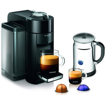 Nespresso A+GCC1-US-BKNE VertuoLine Evoluo Deluxe Coffee and Espresso Maker and Aeroccino+ Milk Frother with Automatic Off Mode One Button Operation and 15-20 Second