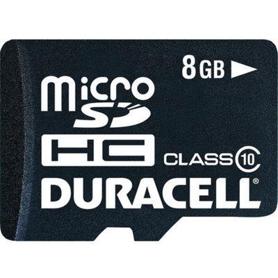 Duracell DURACELL DU-3in1C1008G-R Class 10 microSD(TM) Card with SD(TM) & USB.
