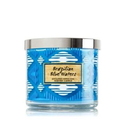 Bath & Body Works 3 Wick Candle 14.5 Oz Brazilian Blue Waters