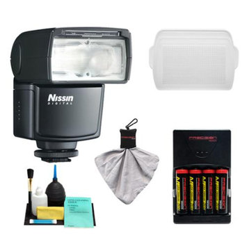 Nissin Digital Speedlite Di466 Flash Unit + Batteries & Charger + Diffuser + Kit for for Olympus Micro 4/3 OM-D/Pen & Panasonic Lumix Digital Cameras