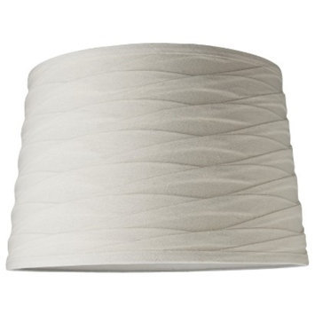 Threshold Linen Wrapped Drum Lamp Shade - White Large