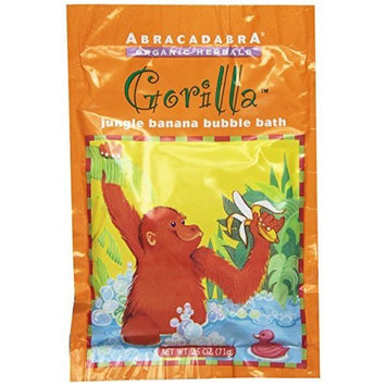 Abracadabra Organic Herbals Bubble Bath, Gorilla Jungle Banana, 2.5 Ounce