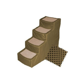 Pet Gear Tan Designer 4 Step Stair with Removable Cover