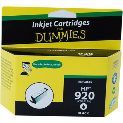 For Dummies - Remanufactured 920 Black Officejet Ink Cartridge (CD971AN)