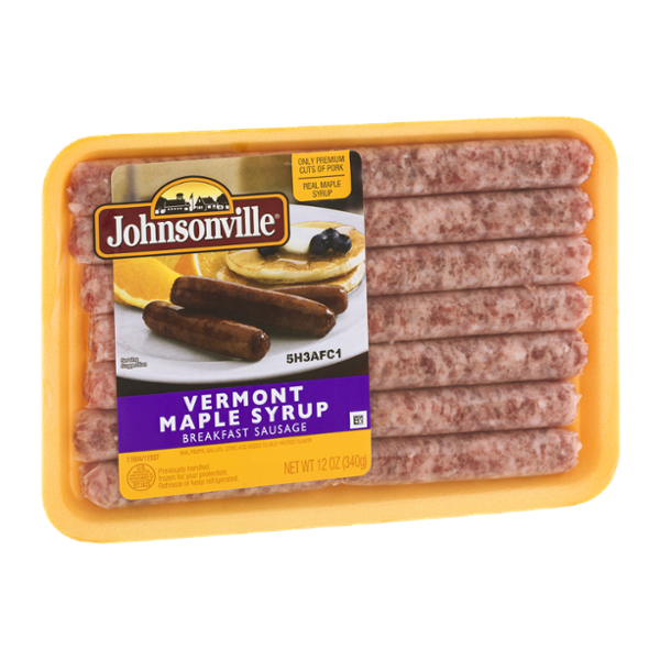 Johnsonville Vermont Maple Syrup Breakfast Sausage