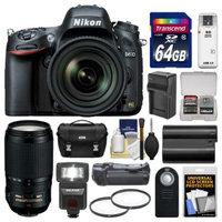 Nikon D610 Digital SLR Camera & 24-85mm VR AF-S Zoom Lens with 70-300mm VR AF-S Lens + 64GB Card + Case + Flash + Grip + Battery & Charger Kit