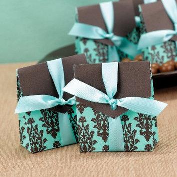Hortense B. Hewitt Brown & Aqua Flourish Favor Boxes - 25ct