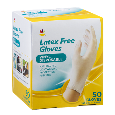 Ahold Latex Free Disposable Gloves - 50 CT