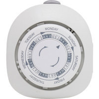 GE Mechanical 1-Outlet 7-Day Polarized Plug-In Timer
