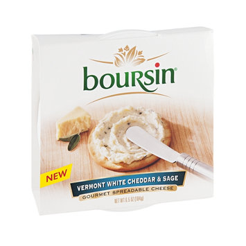 Boursin Gourmet Spreadable Cheese Vermont White Cheddar & Sage