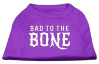 Ahi Bad to the Bone Dog Shirt Purple Lg (14)