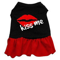 Mirage Pet Products 5810 XXLBKRD Kiss Me Dresses Black with Red XXL 18