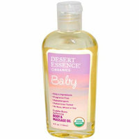 Desert Essence Baby Body and Massage Oil Cuddle Buns Softening Fragrance Free