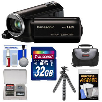 Panasonic HC-V130K Video Camera Camcorder with 32GB Card + Case + Flex Tripod + Accessory Kit