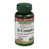 Nature's Bounty B-Complex with Folic Acid plus Vitamin C High - 125 CT