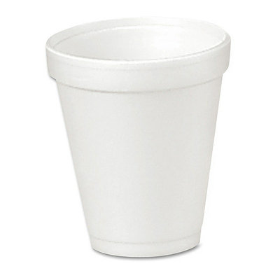 Dart Container Corp. Dart 4J4 Drink Foam Cups- 4 oz. - 40 Bags of 25/Carton