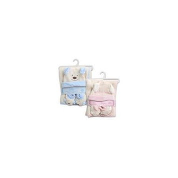 DDI 1335474 3Pc Baby Blanket Bootie Cap Set Pink-Blue