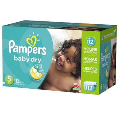 Pampers Baby Dry Diapers Giant Pack - Size 5 (112 Count)
