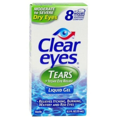 Clear Eyes Tears Moderate to Severe Dry Eyes + Itchy Eye Relief Drops-0.5 oz