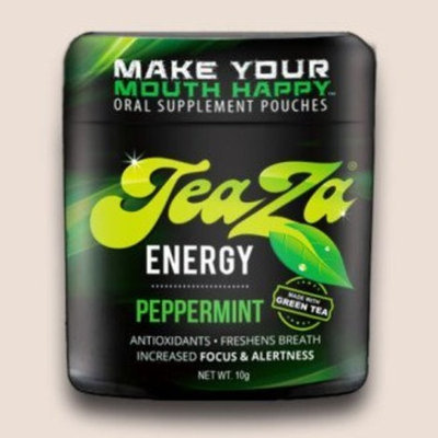 Peppermint Tower Teaza Energy Peppermint Herbal Pouch Tower (10 Fliptops)