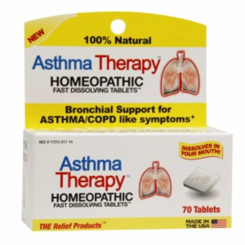 The Relief Products Asthma Therapy Homeopathic Fast Dissolving Tablets, 70 ea