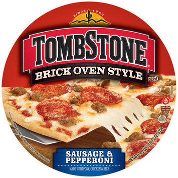 Tombstone Brick Oven Style Sausage & Pepperoni Pizza, 18.2 oz