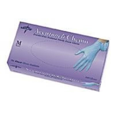 Medline Accutouch Chemo Nitrile Exam Gloves,Blue,Large, 1000 Each / Case