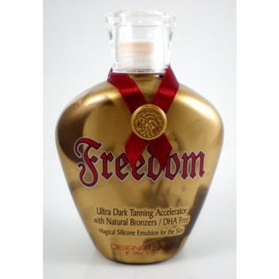 Designer Skin Freedom Tanning Lotion Accelerator Natural Bronzer Tan Lotion 10 oz.