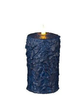 Delighted Home MC-W6BL Hand-Waxed Battery-Operated 6 in. Blue MC Pillar Candle