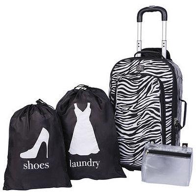 Protege 3-Piece Zebra Luggage Set, 21