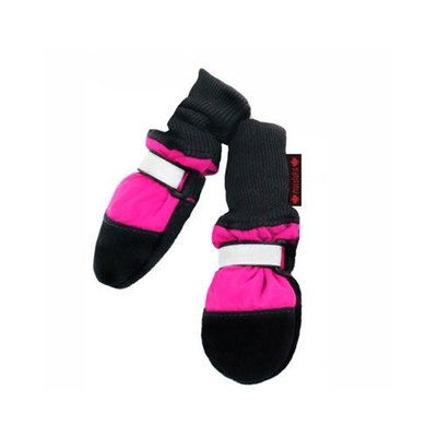 Muttluks Fleece Lined 3.75-Inch to 4.25-Inch Dog Boots, Large, Pink, Set of 4