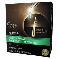 Pantene Pro-V Expert Collection Minoxidil Topical Solution USP, 2% Hair Regrowth Treatment For Women Unscented,3 Month Supply