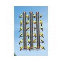 Gold Crest Distributing Songbird Essentials SE324C Three Tube Feeder, Copper