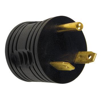 Prime Wire RVAD3015 Male to Female RV Adapter, NEMA TT-30 Male to 5-15 Female, Black