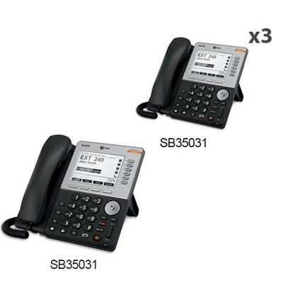 AT & T SB35031 + (3) SB35031 ATT Syn248 SB35031 with Dect 6-5 inches bac