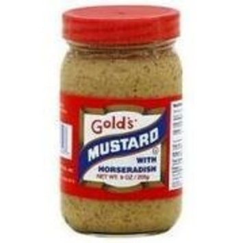 Gold's Golds Mustard with Horseradish 9 oz. (Pack of 12)