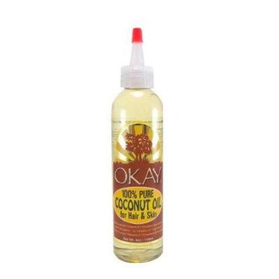 Okay 100% Pure Coconut Oil for Hair & Skin, 4 oz