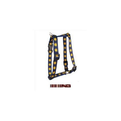 Yellow Dog Design H-RES103L Burgundy Stripes Roman H Harness - Large